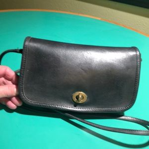 Coach Smaller Vintage Black Crossbody Handbag